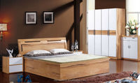 double bed designs in wood modern new model bed china furniture