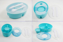Plastic food container with cool pack, ice pack food container, lunch box gel ice pack
