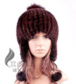 Moda cx-c-116e punto de conejo rex coreano para mujer sombrero del invierno