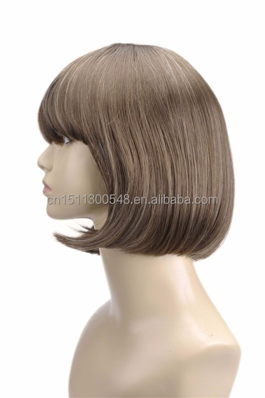 China online shopping fashion ladies bob wig synthetic hair wigs ...