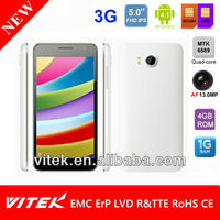 "Dual Sim 13.0MP AF camera 5.0 inch Android 4.1 5"" mobile phone"