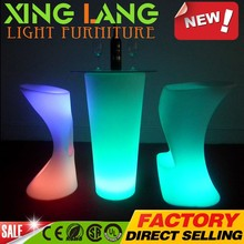 romantic fantastic yellow electric PE plastic RGB color change waterproof LED 92cm table outdoor with flash lighting inside