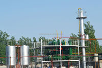 Automatic and continuous Tire pyrolysis oil distillation machine