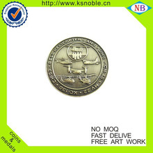 Wholesale old gold custom stamping metal coin