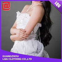 2015 fashion sexy corset wedding gowns