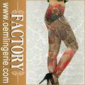 color brillante allover spandex sexy leggings para las mujeres