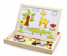 high quality Many Shape Wooden Magnetic Jigsaw Puzzle for Kids with custom printed