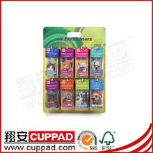 Printing elastic hang string promotional eco-friendly paper car air freshener,car fresheners