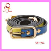 Wholesale High Quality Ladies Custom Metal Jeweled Pu Belt