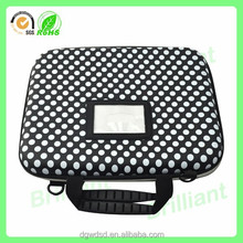 custom design hard bottom laptop case with straps