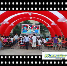 WANCOLOR Full color display xxx movies p10 outdoor led display in alibaba