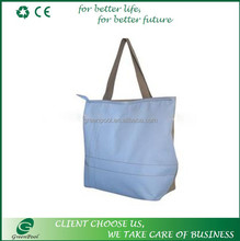 Foldable zipper shopping bag waterproof nylon bag