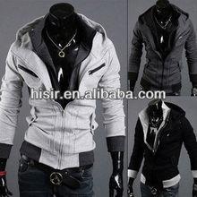 NEW Mens Slim Zipper Sweatshirt Mens Outerwear Hoodies Hoody