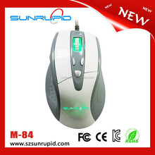 High Precision 4000 DPI Wired USB Optical Gaming Mouse with Side Control, Ergonomic and Symmetrical Design