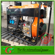 Air cooled type small diesel generator with wheels portable 6kva electric geenrator