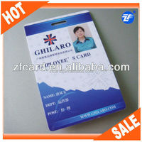 Customized plastic pvc tk4100 rfid time attendance punch card for employee
