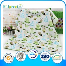 Frog and Caterpillar Pattern Super Soft Baby Swaddle Wrap