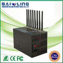 *Sim card mult-socket wireless Bulk sms 8 port low cost gsm sms modem pool