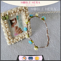 Latest Style Artificial Rattan Head Wreath with PE Flowers