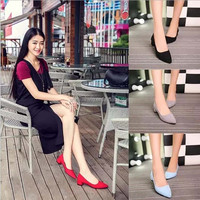 Spring, summer, new women's shoes USES pure color leisure pointed female shoe covers rubber soles feet shoes at home