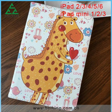 Folder PU Case For iPad2/3/4, For iPad Tablet Flip Case, Leather Skins Animal Cover For iPad