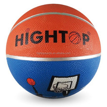 official weight size 6 rubber basketball/wholesale durable outdoor basketball
