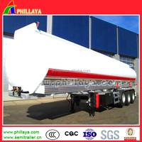 3 axles 3-6 compartments 45000liters fuel tanker semi trailer