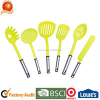 Six pieces Plastic Kitchen Utensils made of Nylon and stainless steel handle