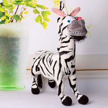 Wild animal stuffed toy plush soft zebra