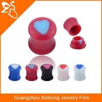 fashion UV ear piercing plugs, acrylic ear cap dust plug,body ear piercing