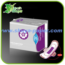 Well cotton surface and ultra thin anion sanitary napkins (240mm)