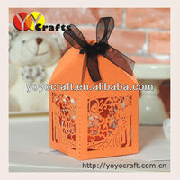 Indian laser cut wedding favour boxes with ribbon from YOYO crafts