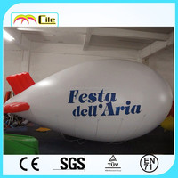 CILE 2015 Newest Customized Inflatable Flying White blimp model (Advertising,Promotions,Simulator,Event)