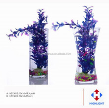 Modern decrative transparent or colored mouth-blown hand made glass vase