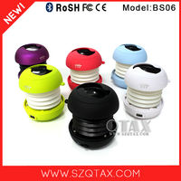 Travel products 2015 patent 3W bluetooth device mini subwoofer speaker for mp3