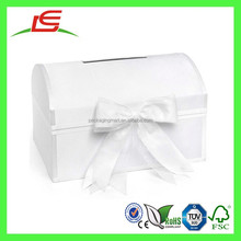 Q1273 Wholesale Custom White Wedding Gift Envelope Box, Treasure Chest Card Box