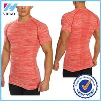 Yihao Trade assurance Men's Gym Short sleeve fitness t-shirt