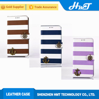 Anchor style DIY case for iPhone 6 PU with TPU cover new arrival leather wallet phone case