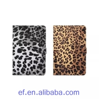 New products 2016 Sexy leopard flip wallet leather case for iPad mini 4 pu leather cover case for Apple iPad mini 4 phone case