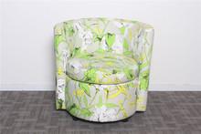 Tecido banheira cadeira moldura de madeira com Cusion assento A20