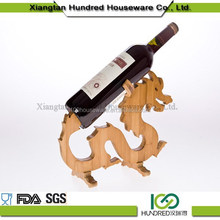 High Quality cheap Custom all kinds of made bamboo animails wine rack ,hanging wine glass rack for decoration