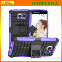 2 in 1 TPU+PC Heavy Duty Rugged Armor Case For Samsung Galaxy S6 with Kickstand