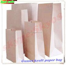 Gusset snack packaging paper bag/Fast food packaging paper bag/Paper bread packaging bag