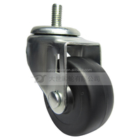 3 inch bolt type swivel casters with rubber, plastic, pvc, tpe