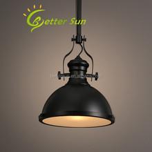 Black Iron Vintage Industrial Pendant Light