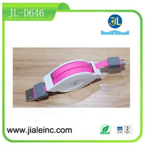 China market of electronic USB Retractable Data Transfer Cable for mobile phone
