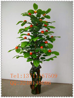mini artificial red apple tree /indoor decoration fake apple / fake aplee tree for store decoration