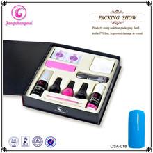 Chinese wholesale uv led gel polish full nail art set with uv lamp