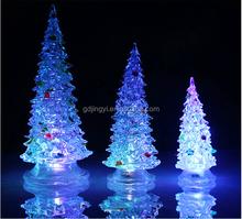 craft plastic acrylic new popular christmas tree led lighting decoration