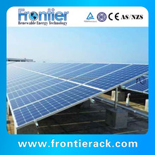 Concrete flat roof Solar module pv mounted structure